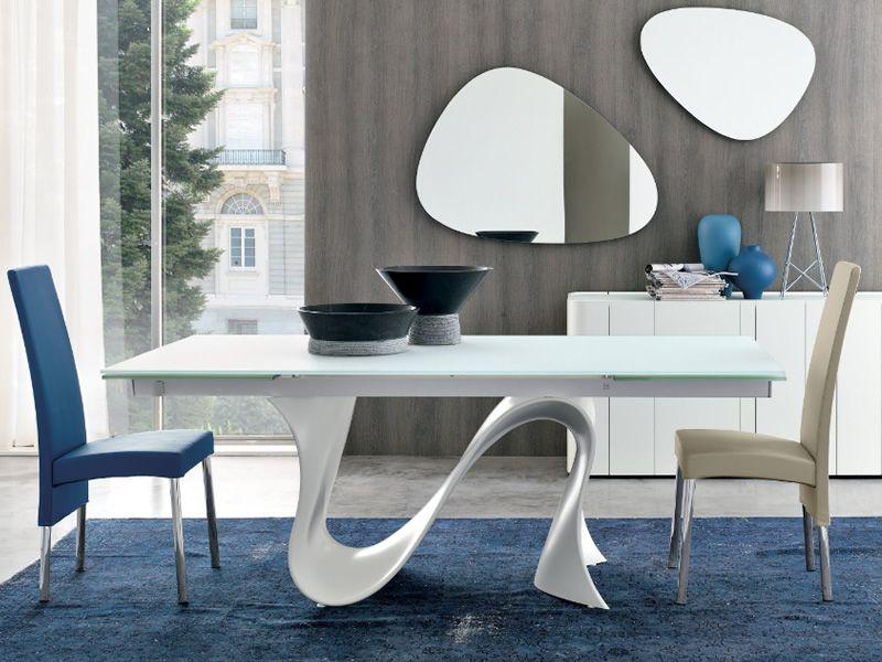 wave-n 8014 - tavolo allungabile tonin casa in tecnopolimero con ... - Tavolo Allungabile Con Sedie