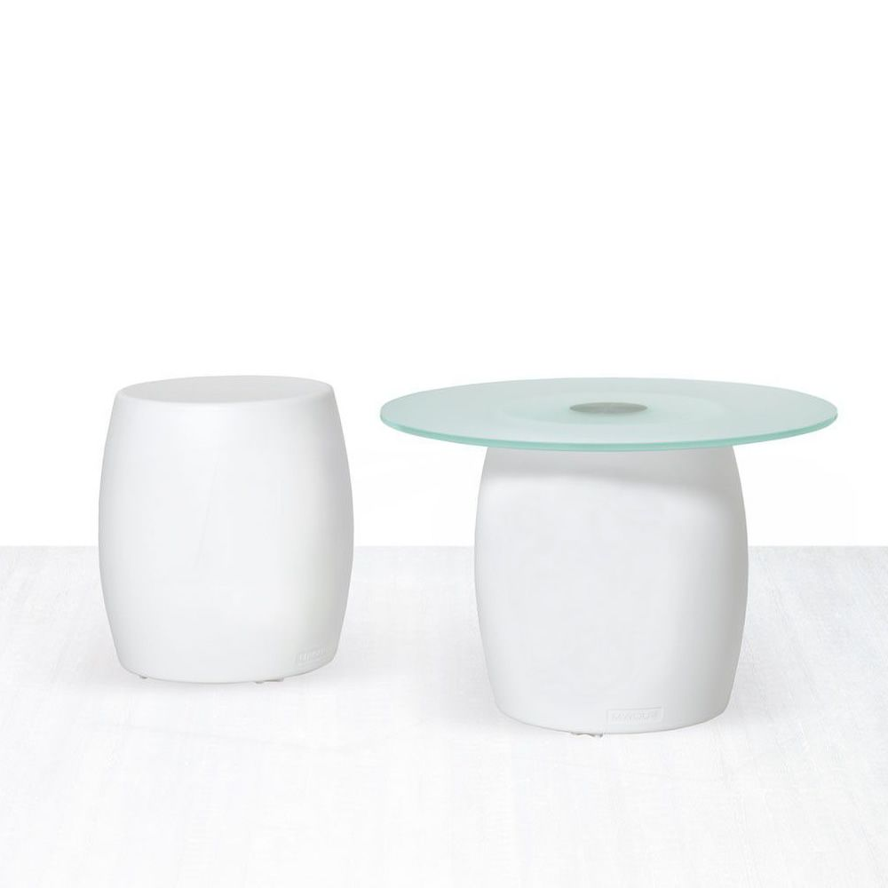 Bart tabouret bas table basse en technopolym re - Plateau pour table exterieur ...