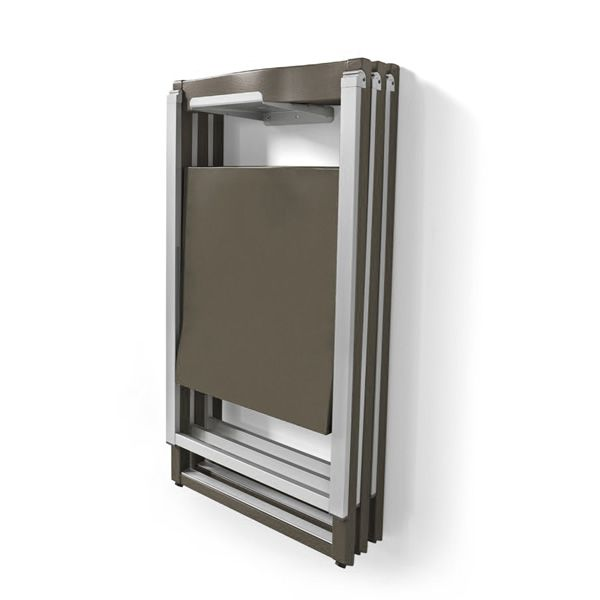 ... CB207 Skip   Folding Chair Made Of Aluminium And Wood, Hung On The Wall  By