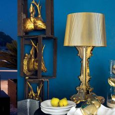 Bourgie - Kartell table lamp, made of polycarbonate and ABS, several colours available
