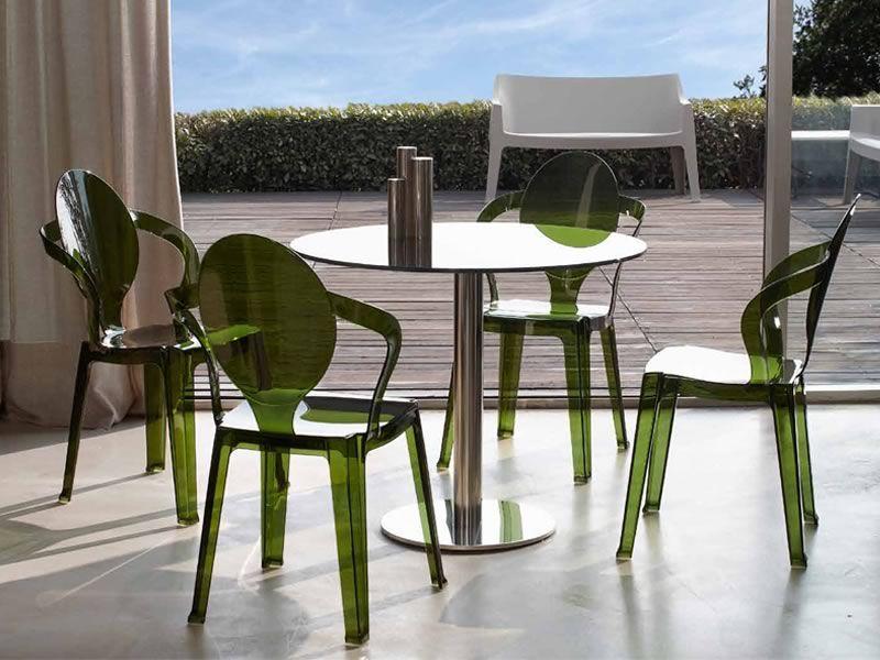 sc2332 spoon st hle aus polycarbonat in gr n transparent. Black Bedroom Furniture Sets. Home Design Ideas