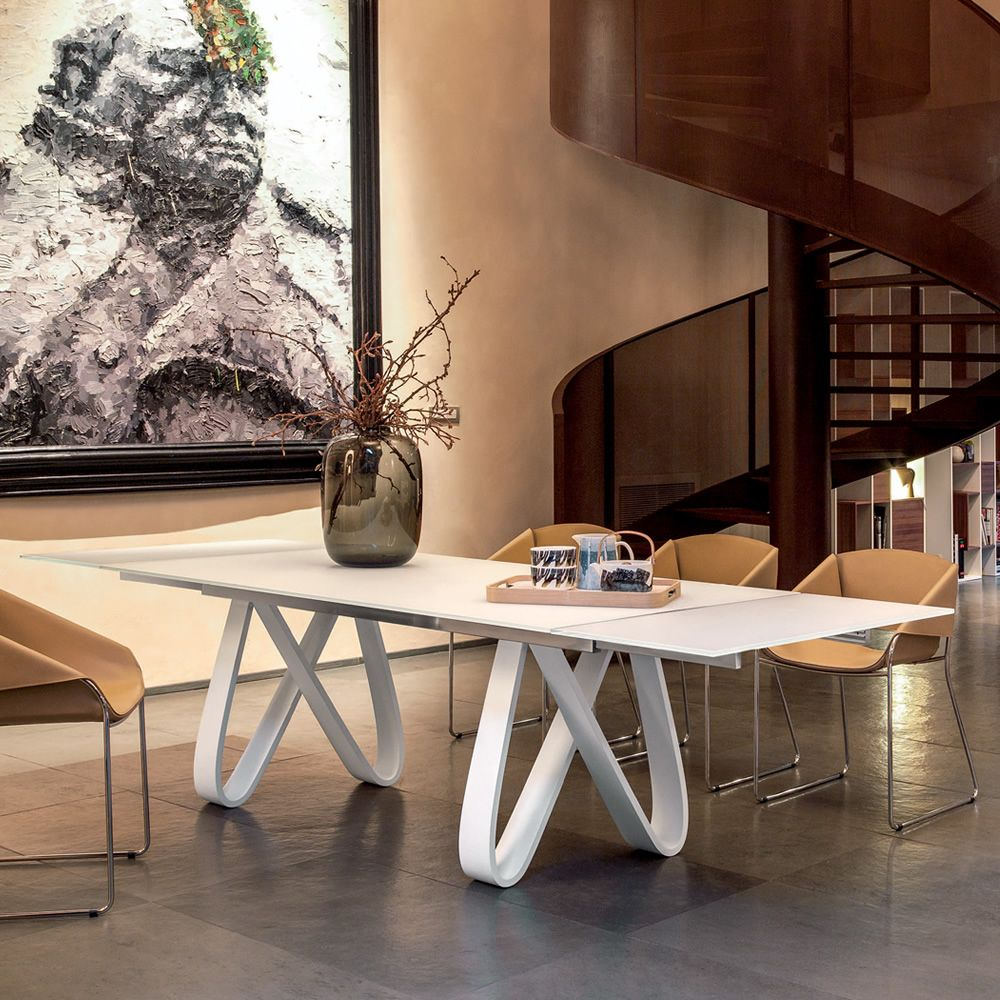 butterfly v 8070 verl ngerbarer tisch tonin casa aus holz glasplatte in verschiedene. Black Bedroom Furniture Sets. Home Design Ideas