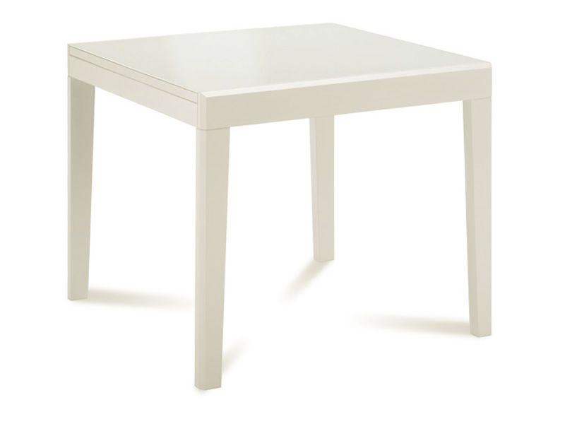 Asso 90 tavolo domitalia in legno con piano in vetro 90 for Tavolo 90 x 90 allungabile