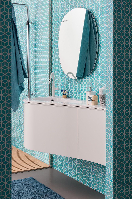 Radius specchio tondo disponibile anche con luce led for Specchio bagno profilo alluminio