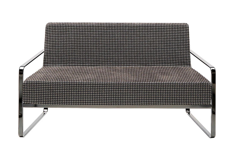 afra div canap midj en m tal rev tement en simil cuir. Black Bedroom Furniture Sets. Home Design Ideas