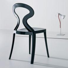 Anita - Stuhl mit Design aus Technopolymeren, stapelbar, in verschieden Farben verfügbar