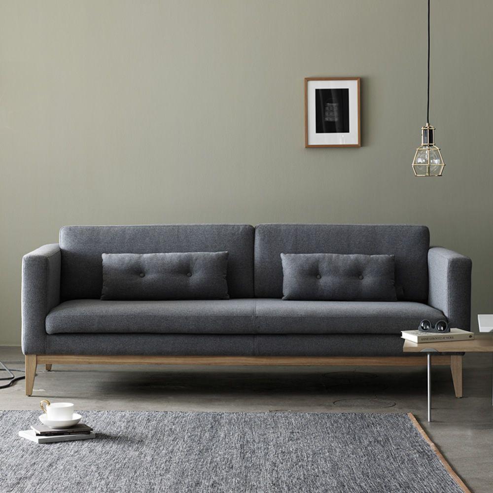 Day divano con struttura e piedi in legno imbottito e rivestito in tessuto diversi colori - Divano ikea con struttura in legno ...