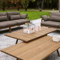 Exit Coffee - Tavolino Colico per giardino, in teak riciclato