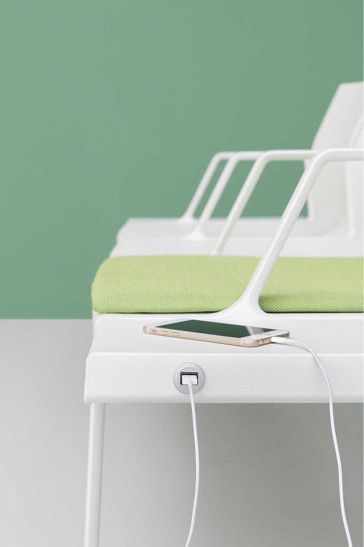 plural b banc pedrali pour salles d 39 attente en m tal et polypropyl ne dot d 39 accoudoirs 3. Black Bedroom Furniture Sets. Home Design Ideas