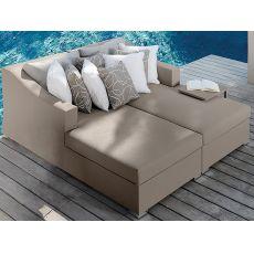 Chic - D - Sofa mit Chaiselongue, für den Garten, auch mit Beistelltisch