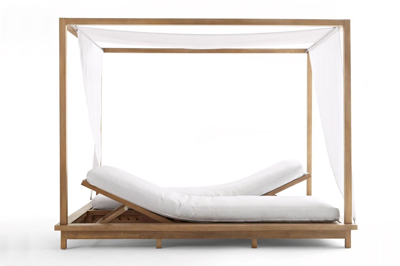 exit bain de soleil double by colico pour jardin avec baldaquin et lits inclinables. Black Bedroom Furniture Sets. Home Design Ideas