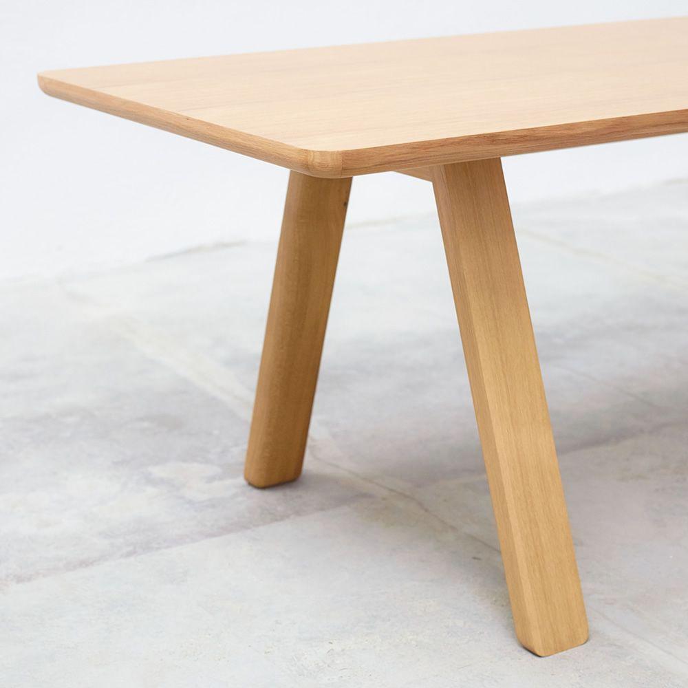stelvio rechteckiger tisch ton aus holz platte 90 x 200. Black Bedroom Furniture Sets. Home Design Ideas