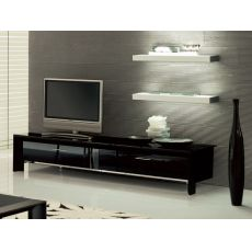 Miami 6205 - Mobile porta TV Tonin Casa in alluminio e vetro, con 2 ante