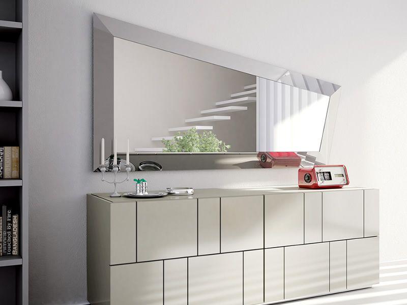 Look l miroir moderne avec cadre en bois ou verre for Miroir moderne