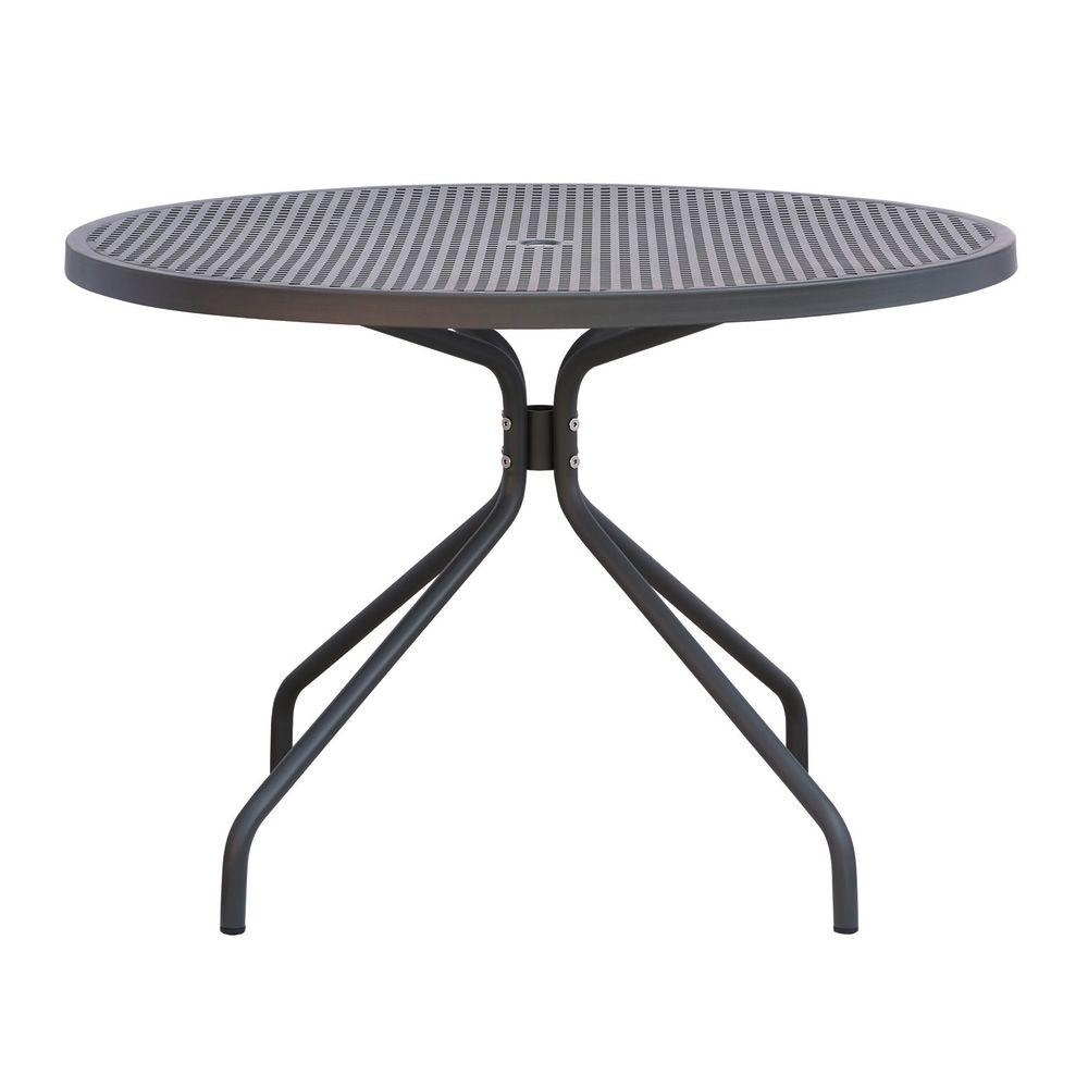 Rig36 mesa met lica en distintos colores para jard n for Mesas redondas de jardin