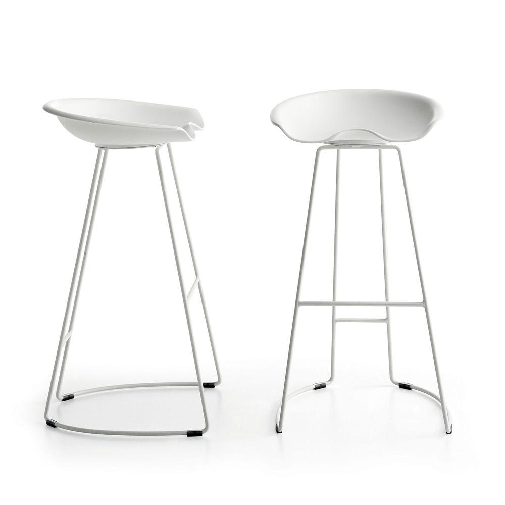 Landi taburete moderno de metal y tecnopol mero altura for Landi meubles de jardin