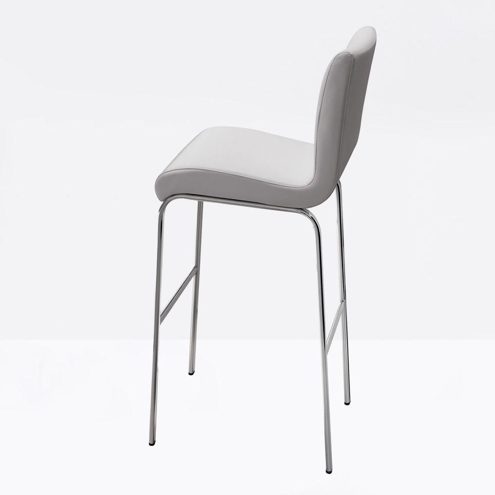 stone h feststehender hocker midj aus metall sitz mit leder kunstleder oder stoff bezogen. Black Bedroom Furniture Sets. Home Design Ideas