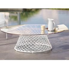 Heaven B - Emu table made of metal, round top of 120 cm, height 39 cm, for garden
