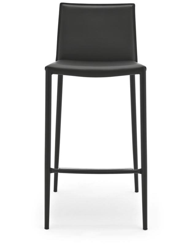cs1393 boheme tabouret calligaris en m tal et cuir r g n r hauteur assise 65 cm sediarreda. Black Bedroom Furniture Sets. Home Design Ideas