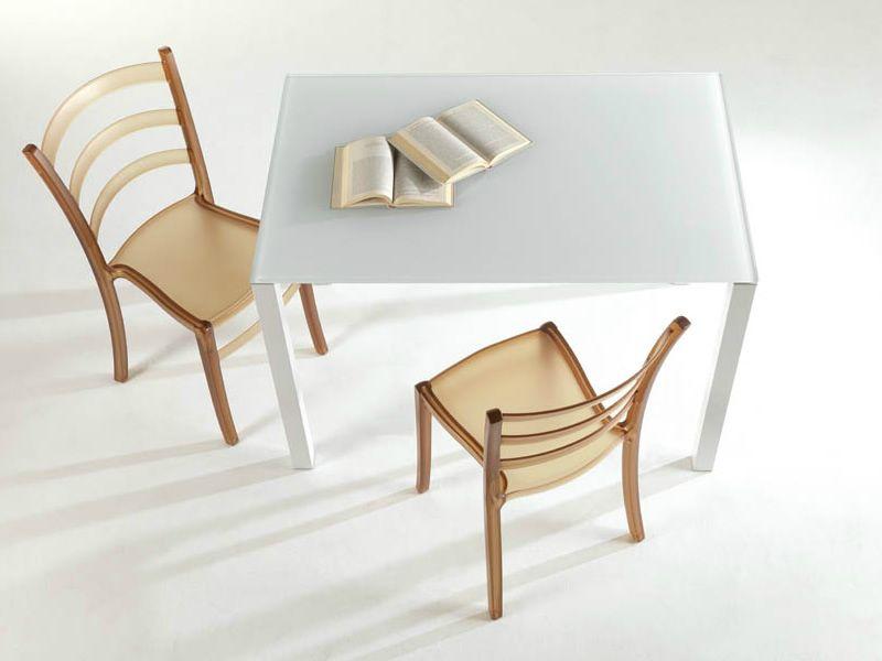 Square tavolo colico design in alluminio 110x70 cm for Colico sedie outlet