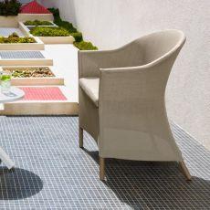 Circle - P2 - Fauteuil en aluminium et textilène, idéal pour le jardin