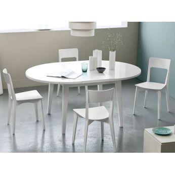 4717 mesa redonda extensible con la tapa en cristal - Mesa redonda cristal extensible ...