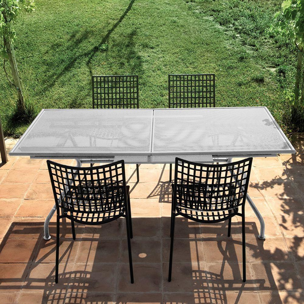 Piano tavolo emu in metallo piano 160x90 cm for Tavolo per veranda