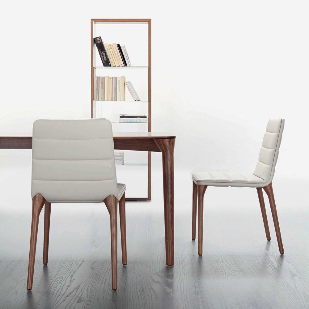 Pit t tavolo di design tonon in legno di varie finiture con piano in alluminio - Tavolo in legno design ...