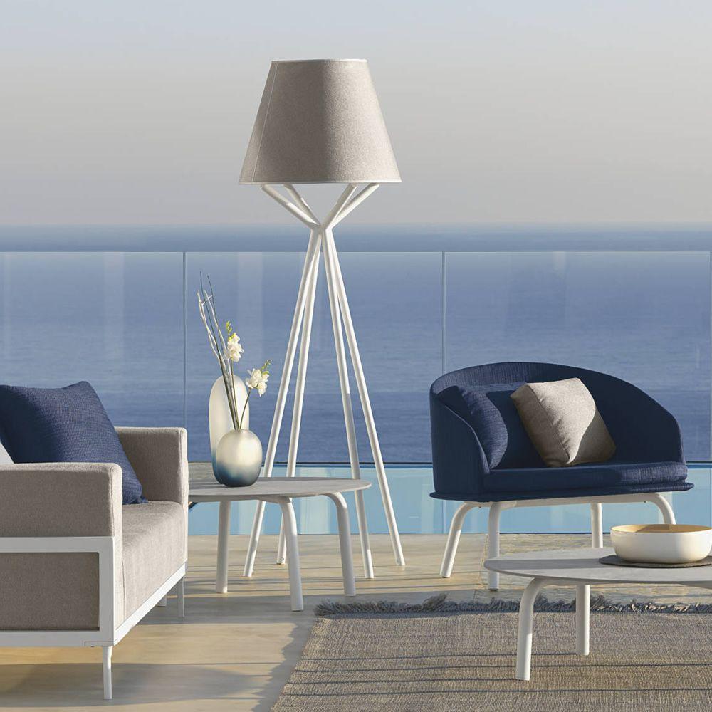 Cleo alu lt lampe poser d 39 ext rieur en aluminium for Structure d abat jour