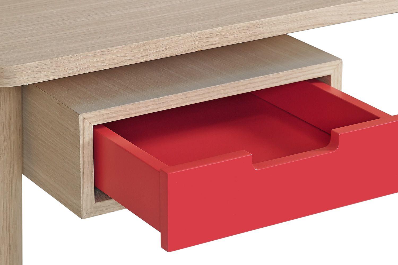 Honor scrivania di design in legno e mdf dotata di cassetti e scompartimenti sediarreda - Scrivanie legno design ...