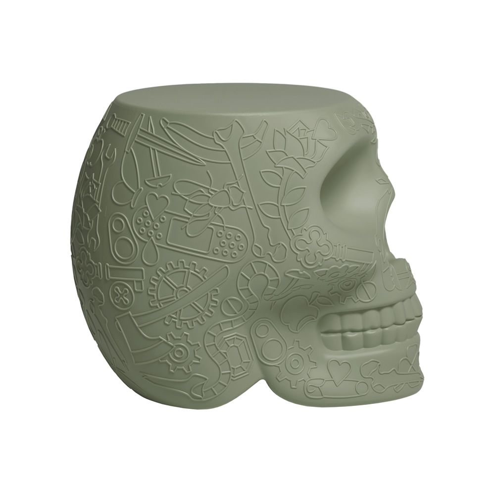 Mexico Skull Shaped Qeeboo Sidetable Stool In
