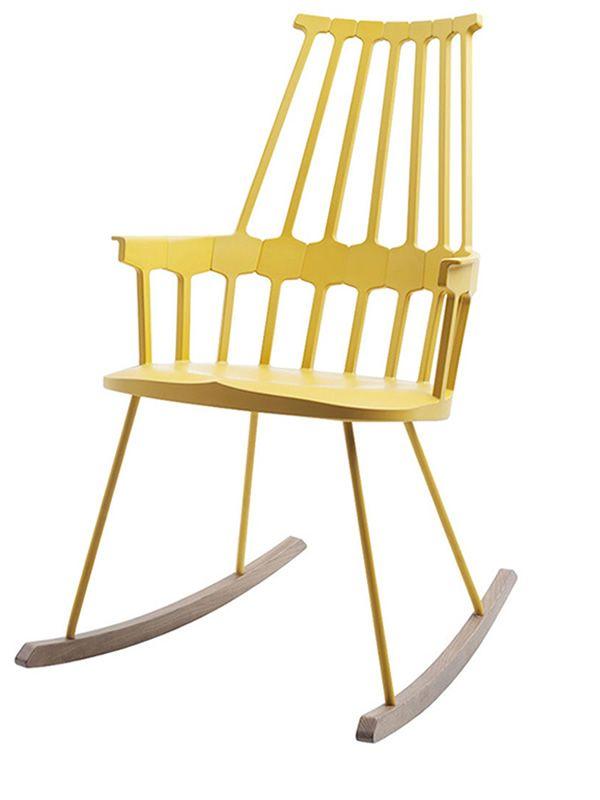 Comback 5956 sedia a dondolo kartell di design in legno for Sedia design kartell