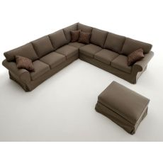 Alba Corner - Classic angular sofa, 287x287 cm, with removable cover