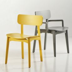 Cacao - Designer chair Chairs&More, in wood, available in different colours, with or without armrests