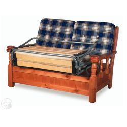 Tirolo divano letto divano letto rustico in legno con cuscini a 2 o 3 posti - Divano letto rustico ...