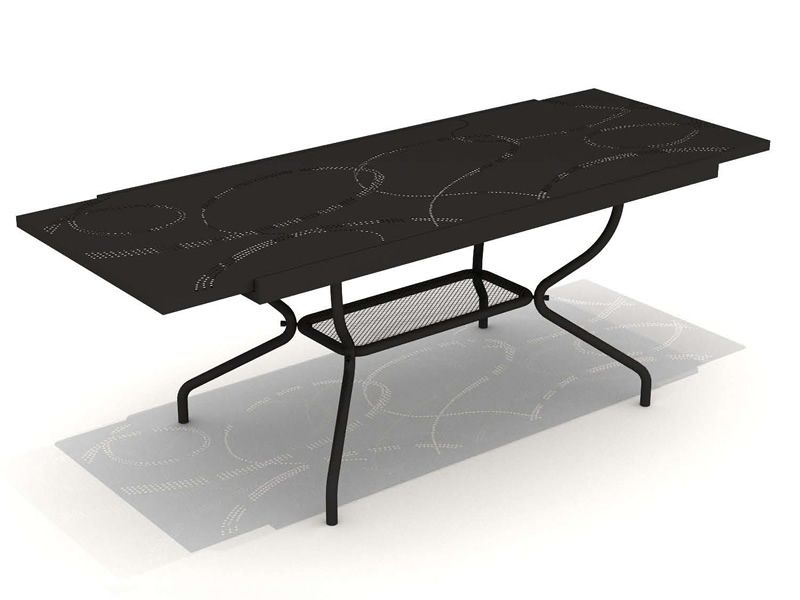 Ready garden table in metal fixed or extendable for Table metal extensible