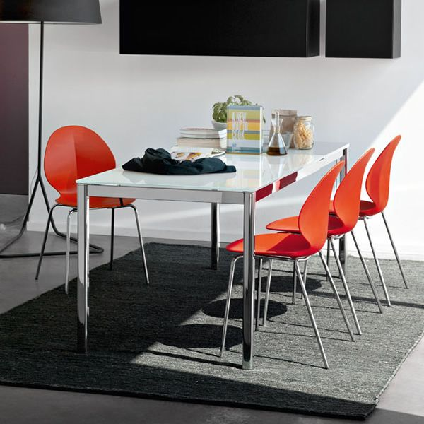 Cs4031mv performance c 110 tavolo calligaris in metallo for Tavolo vetro allungabile calligaris