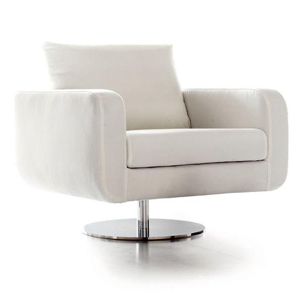 Tolosa poltrona fauteuil moderne pivotant rembourr disponible en diff rents tissus et en cuir - Moderne fauteuil ...