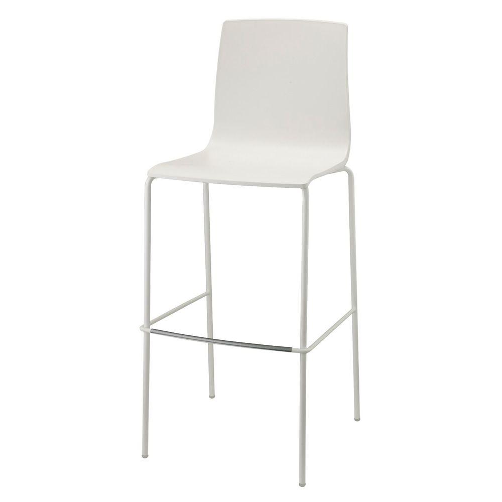 Alice V 2575 | Metal stool, linen white colour