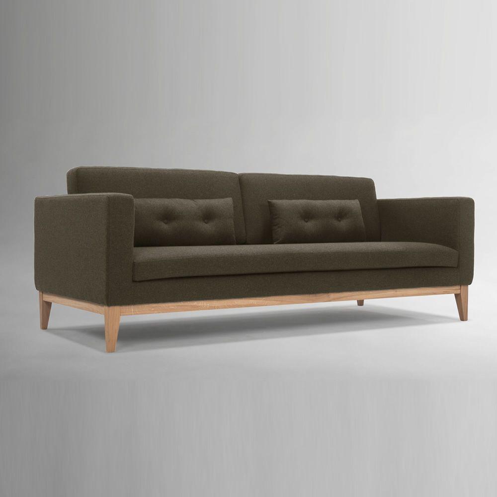 day canap avec structure et pieds en bois rembourr et. Black Bedroom Furniture Sets. Home Design Ideas