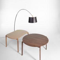 Magot Table - Mesa moderna de madera, con tapa moldeada 145x100 cms, extensible