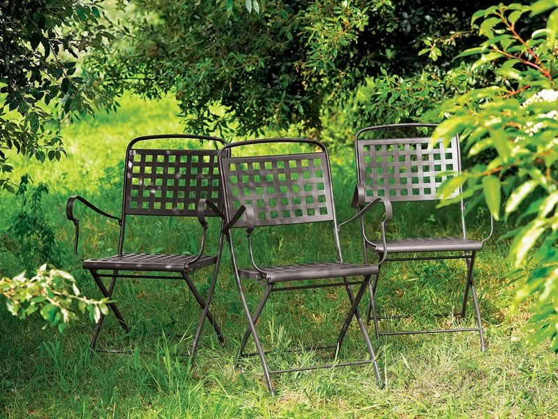 Isabella p 2511 silla plegable de acero para jard n for Sillas de jardin plegables