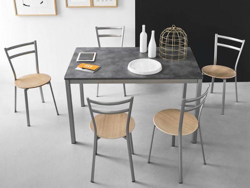 Cs129 x press sedia calligaris in metallo diverse sedute for Sedie cucina metallo