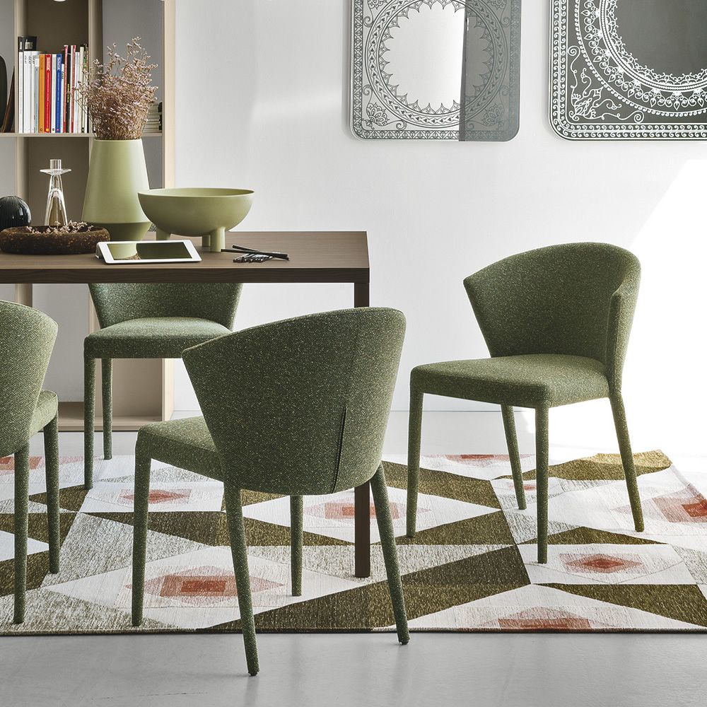 Cs1442 am lie sedia calligaris rivestita in tessuto for Sedie reception