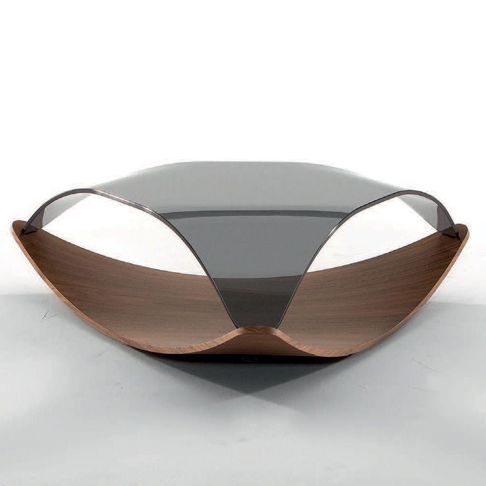 quiet 8194 table basse tonin casa en plaqu avec plateau en verre sediarreda. Black Bedroom Furniture Sets. Home Design Ideas