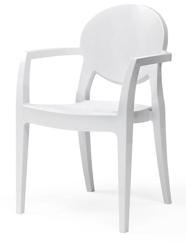 Igloo 2355 chaise avec accoudoirs en polycarbonate for Chaise en polycarbonate