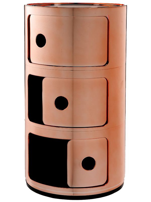 componibili 4967 - contenitore kartell di design, in abs, con tre ... - Kartell Arredo Bagno