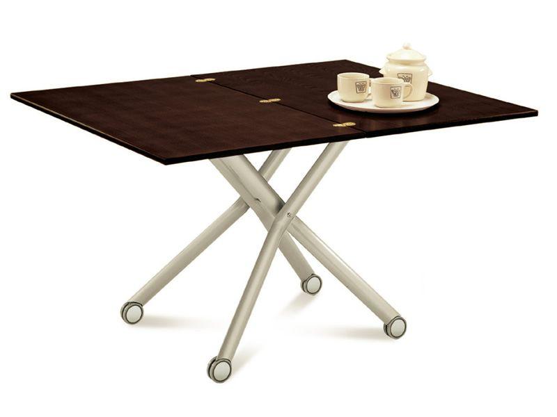 Esprit table domitalia en m tal avec plateau en m lamin for Table hauteur 110 cm