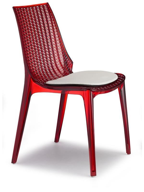 sc2651 tricot chaise moderne en polycarbonate avec ou. Black Bedroom Furniture Sets. Home Design Ideas