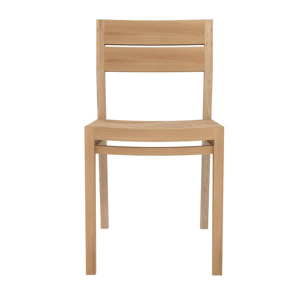 Ex1 w chaise ethnicraft en bois de ch ne ou de teck for Chaise en chene